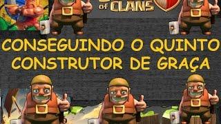 getlinkyoutube.com-Clash Clans Conseguir Todos Construtores Gratuítamente - Comprando o Quinto Construtor de Graça
