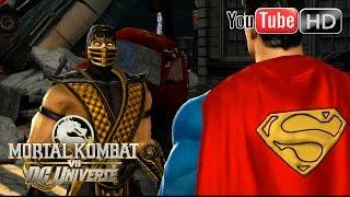 getlinkyoutube.com-Mortal Kombat VS DC Universe [Xbox 360] - ✪ Scorpion Vs Superman ✪ | Full HD