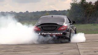 820HP Mercedes CLS63 AMG LA-Performance - LOUD Revs, Drifts & Drag Racing!