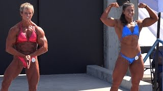 getlinkyoutube.com-Female Bodybuilding Heavy Weight Routine & Results - Labor Day 2014