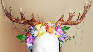 getlinkyoutube.com-DIY Antler   Headdress
