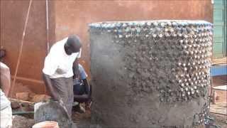 getlinkyoutube.com-Water Tank built with Plastic Bottles