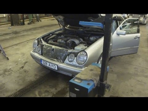 Регулировка фар MERCEDES-BENZ 210/Headlamp Adjustment