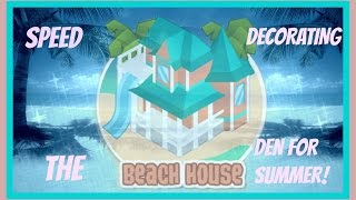 getlinkyoutube.com-Animal Jam: Speed Decorating The Beach House Den For Summer!