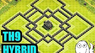 getlinkyoutube.com-Clash of Clans - TH9 HYBRID BASE (NEW UPDATE) 2015/2016
