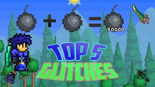 getlinkyoutube.com-Terraria 1.2.4  top 5 glitches for ios/android [top 5 useful/funny glitches in terraria mobile]