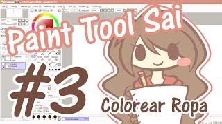 getlinkyoutube.com-Tutorial Paint Tool Sai #3 - Colorear la ropa