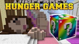 getlinkyoutube.com-Minecraft: GAMINGWITHJEN'S BEDROOM HUNGER GAMES - Lucky Block Mod - Modded Mini-Game