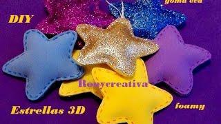 getlinkyoutube.com-COMO HACER ESTRELLAS 3D en FOAMY o GOMA EVA / FOAMY STARS DIY (with English translation)