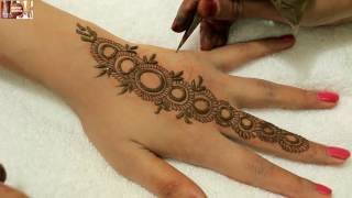 getlinkyoutube.com-Easy Stylist Circular Mehndi Designs For Hands:Beautiful Heena On Upper Side By MehndiArtistica 2016