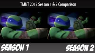 getlinkyoutube.com-TMNT 2012 Season 1&2 Comparison