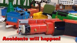 """getlinkyoutube.com-トーマス プラレール じこはおこるさ Tomy Plarail Thomas """"Accidents will happen!"""""""