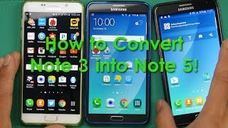 getlinkyoutube.com-How to Convert Galaxy Note 3 into Note 5!