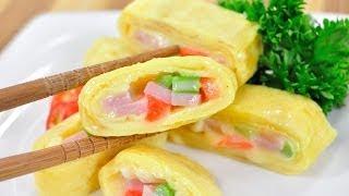 getlinkyoutube.com-ไข่ม้วนแฮมชีส Ham Cheese Omelet