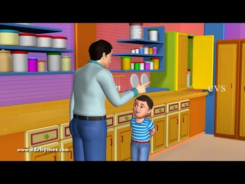 Johny Johny yes papa - 3D Animation English Nursery rhyme for children with lyrics