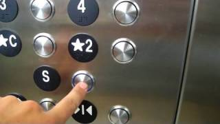 getlinkyoutube.com-ThyssenKrupp Hydraulic Elevator @ Campbell Parking Garage Roanoke VA