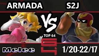 Genesis 4 SSBM - [A] Armada (Peach) Vs. Tempo | S2J (Captain Falcon) Smash Melee Winners Ro16