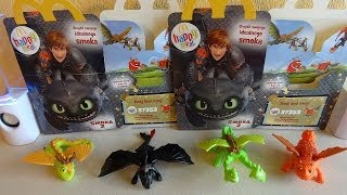 getlinkyoutube.com-Coll. 1: 2014 McDonald's How To Train Your Dragon 2 Movie Happy Meal Toys Unboxing