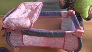 getlinkyoutube.com-Кроватка 2 в 1 для куклы Беби борн с пеленальным столиком BABY BORN bed