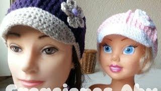 getlinkyoutube.com-Gorra Baby a Crochet para Niña