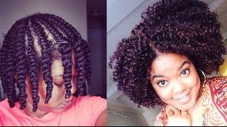 getlinkyoutube.com-Natural Hair | Updated Flat-Twist Out