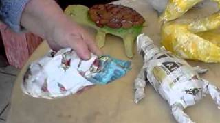 getlinkyoutube.com-Artesanato - (Handcrafts) - Tartarugas de Papel Mache