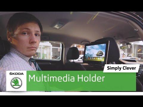 Держатель для планшета Multimedia Holder в Skoda. Обзор автомобиля Шкода. Автоцентр Прага Авто