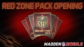 getlinkyoutube.com-REDZONE PACK OPENING | Madden NFL Mobile 16