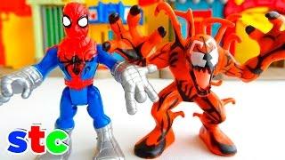 getlinkyoutube.com-Super Hero Adventures Lanzador de Moto Spiderman