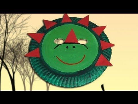 Cómo hacer una máscara de dinosaurio, disfraces de carnaval