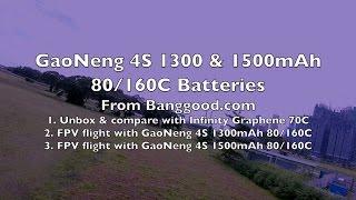 getlinkyoutube.com-GaoNeng 4S 1300mAh & 1500mAh 80C/160C LiPo Battery🔋⚡