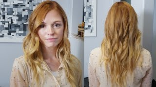getlinkyoutube.com-Beautiful 4 Color Strawberry Ombre Melt // How to Color Women's Hair // Advanced Coloring
