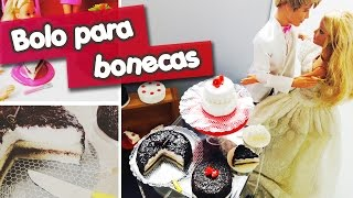 getlinkyoutube.com-Bolo para bonecas Barbie e Monster High (Como Fazer)