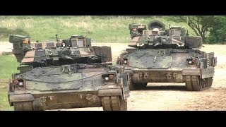 getlinkyoutube.com-US Army - M2A3 Bradley IFVs Town Assault At Exercise Combined Resolve II [720p]