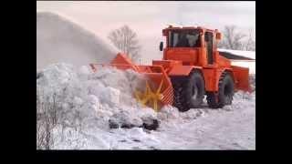 getlinkyoutube.com-Фильм про трактор К-707Т (К-700 и К-701). Балтиец - Снегоуборщик .