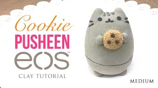 getlinkyoutube.com-Pusheen Cat & Cookie DIY EOS Clay Tutorial!