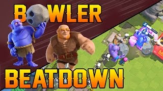 getlinkyoutube.com-BOWLER BEATDOWN! Clash Royale - Best Giant Bowler Deck and Strategy