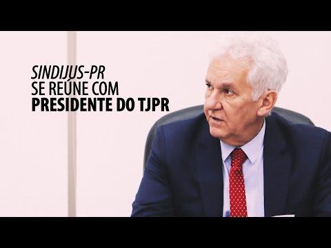 Reunião com o presidente do TJPR no dia 16/05/17
