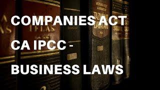 Companies Act   CA IPCC - Business Laws