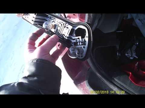 Замена ламп задних фонарей Citroen C4 coupe