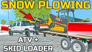 getlinkyoutube.com-FARMING SIMULATOR 2015 | SNOW PLOWING | SWEET SET UP | ATV PLOW + MORE