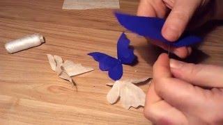 getlinkyoutube.com-#Бабочки из гофрированной бумаги/Butterflies from the corrugated paper.