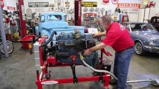 getlinkyoutube.com-Chevy 235 6  engine on Easy Run test stand  Drager's International Classic Sales 206-533-9600