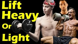 getlinkyoutube.com-Lift HEAVY or LIGHT to Build Muscle? ➟ #1 Workout & Training Myth Best Way to Build Muscle Mass Fast