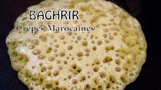getlinkyoutube.com-Baghrir Moroccan pancakes بغريرساهل و ناجح Crepes marocaines