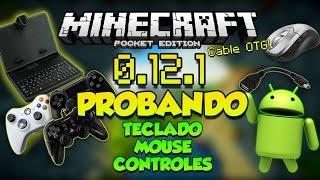 getlinkyoutube.com-MINECRAFT PE 0.12.0 - 0.12.1 - PROBANDO CONTROLES TECLADO Y MOUSE CON OTG !