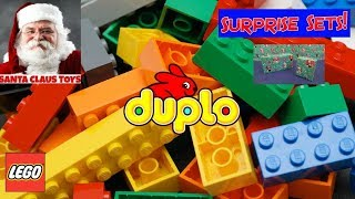 getlinkyoutube.com-SANTA CLAUS: LEGO Duplo Surprise Toys unboxing