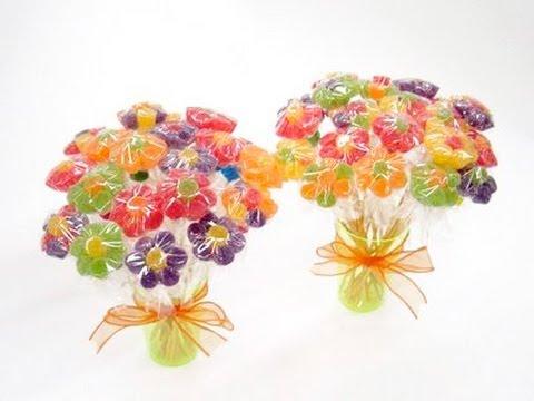 Como Fazer Flor de Bala de Jujuba (Bala de Goma) - Tutorial
