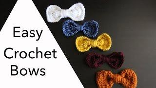 getlinkyoutube.com-Easy 10 Minute Crochet Bows | Sewrella