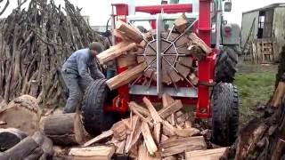 100 Ways to Split Firewood. Best Cleaver, Saw and Log Splitter Compilation